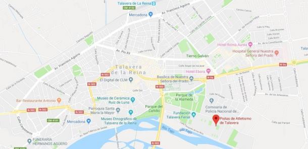 Mapa de Talavera   Foto: Google Maps