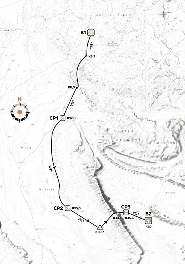 Mapa segunda etapa | www.marathondessables.com