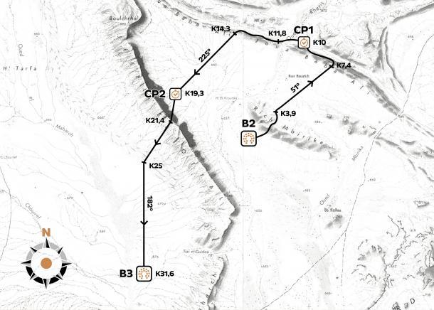 Mapa tercera etapa|www.marathondessables.com