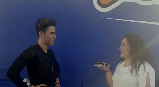 Fotografia: Lucía (@china_w11l_81010) Momento de la entrevista a Marc Alcoba