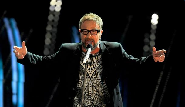 Un'immagine della partecipazione a Sanremo 2015 di Marco Masini | fonte: wikipedia