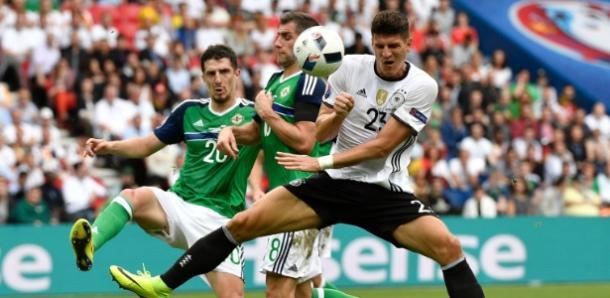 Reserva nas partidas anteriores, Gómez marcou o único gol do jogo (Foto:Martin Meissner/AP)