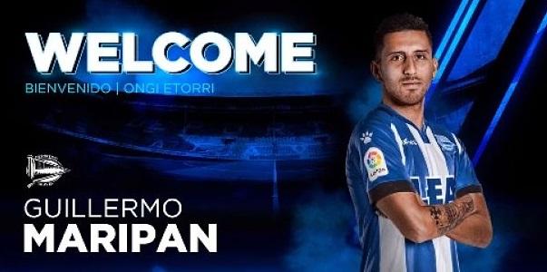 Cartel de la presentación de Guillermo Maripán como jugador del Alavés. Fuente: deportivoalaves.com