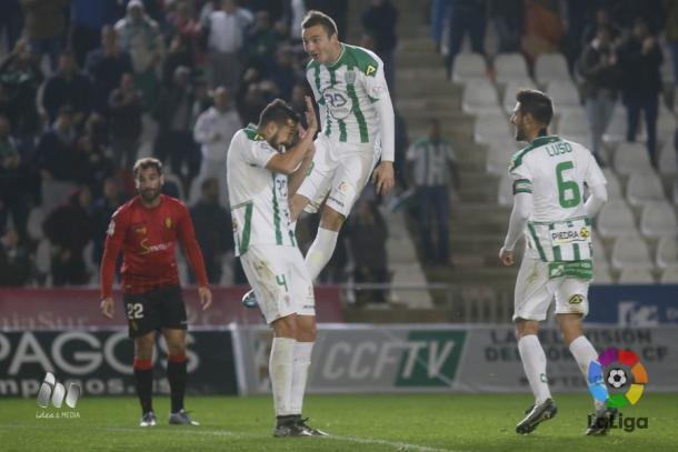 Markovic celebra su gol ante el Mallorca / Fuente: La Liga