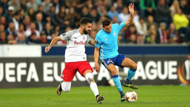 Olympique vs Salzburgo / Fuente: Salzburgo