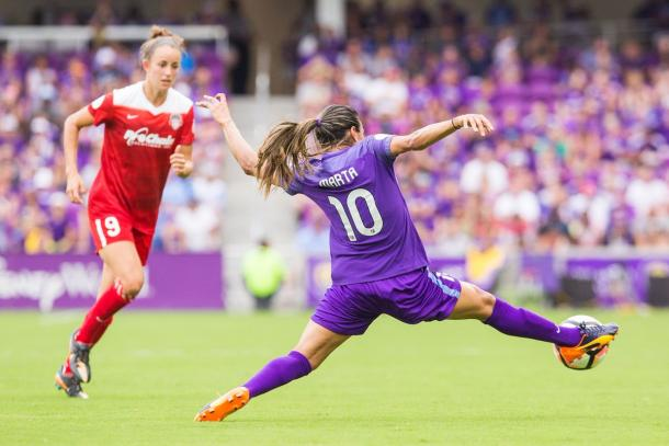 Marta will need to be more involved if the Pride are going to pick up three points. Source: Orlando Pride