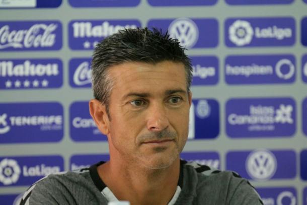 Martí, en rueda de prensa. Foto: CD Tenerife