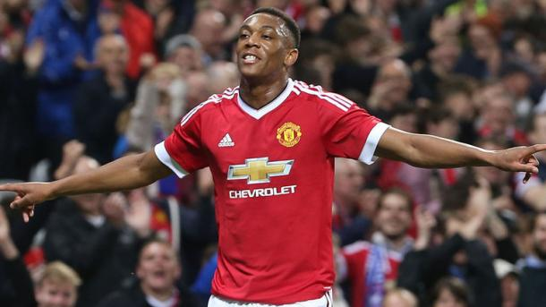 Anthony Martial has been one of the few revelations for United this season (Source:Sky Sports)