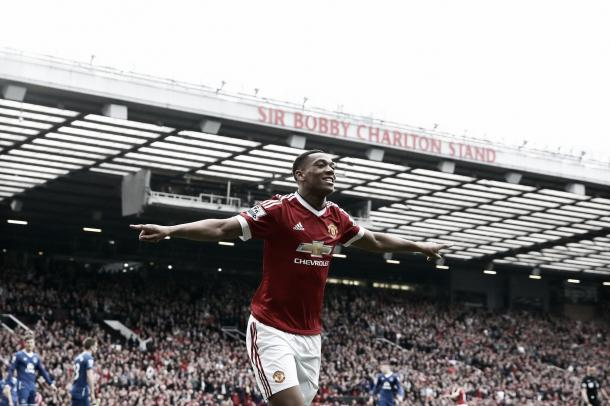 Anthony Martial celebrates the winning goal. | Photo: Getty Images