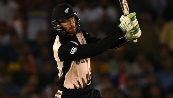 Guptill in action during his match winning 80 against Pakistan | Photo: icc.com