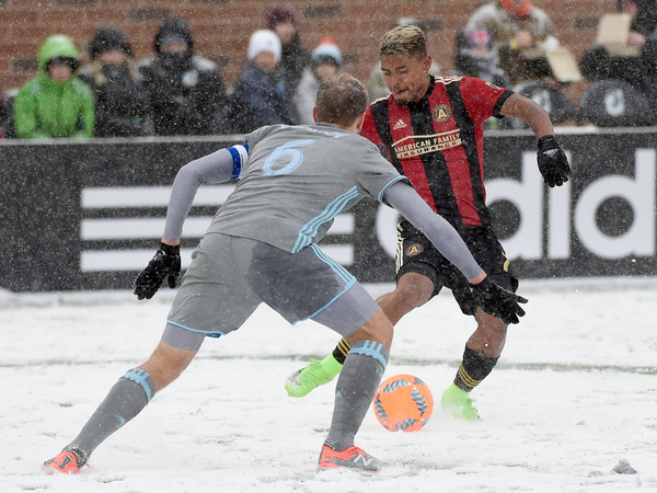 Josef Martinez netted a hat-trick in a 6-1 win over Minnesota United. (Source: Hannah Foslien/Getty Images)