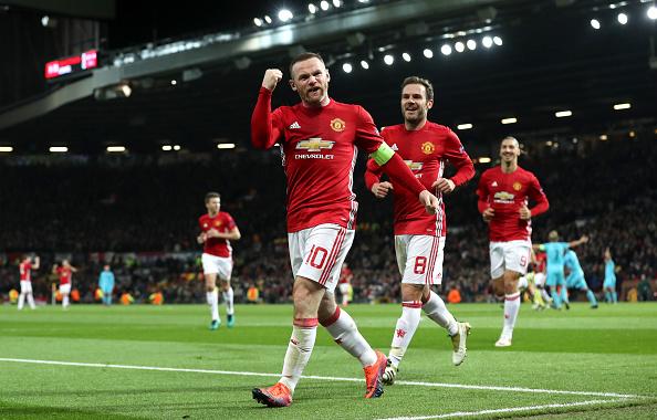 Rooney superou van Nistelrooy e se tornou maior goleador do United em competições europeias | Foto: Martin Rickett/PA Images via Getty Images
