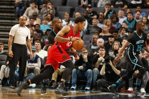 The Raptors were blown out against the Hornets, causing serious concern for the state of the Raptors. Photo: Kent Smith/NBAE via Getty Images