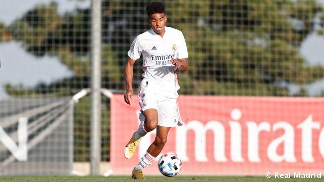Marvin, en un partido con el Castilla. Fuente: Real Madrid
