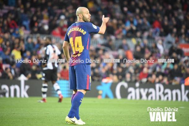 Mascherano durante el partido de esta tarde / Foto: Noelia Déniz (VAVEL.com)
