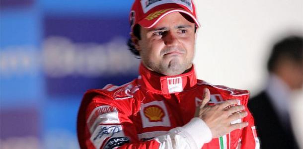 Massa sul podio di San Paolo, nel 2008. Fonte foto: Getty Images.
