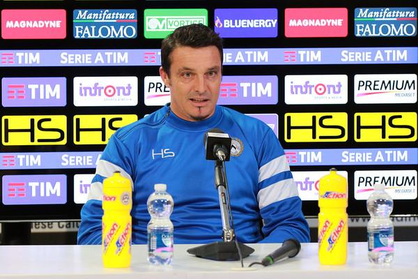 El entrenador italiano del Udinese Massimo Oddo en la rueda de prensa previa al partido | Foto: Udinese Calcio