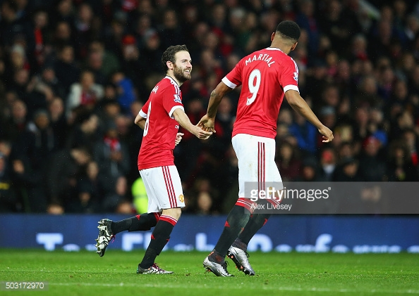 Juan Mata and Anthony Martial could be United's greatest attacking threats on show against Fenerbahce | Photo: Alex Livesey/ Getty Images.