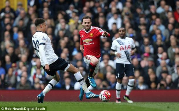Juan Mata endured a difficult match against Spurs, but is adamant attention turn to Wednesday's game at West Ham. | Source: Rob Newell/Digital South