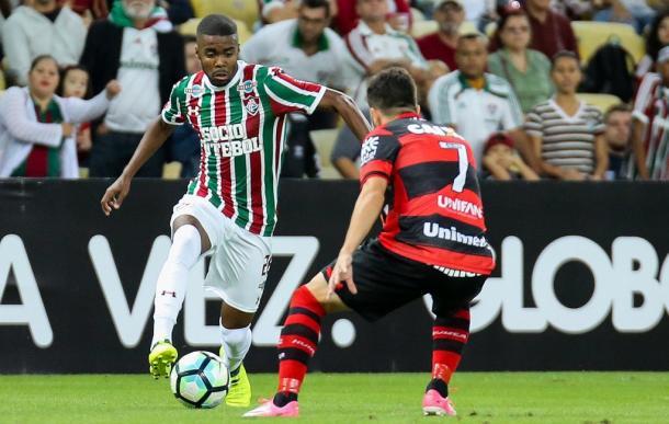 Matheus Alessandro terminou a temporada 2017 em alta (Foto: Divulgação/Fluminense)