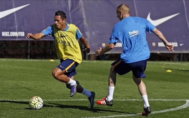 Entrenando (foto:sport)