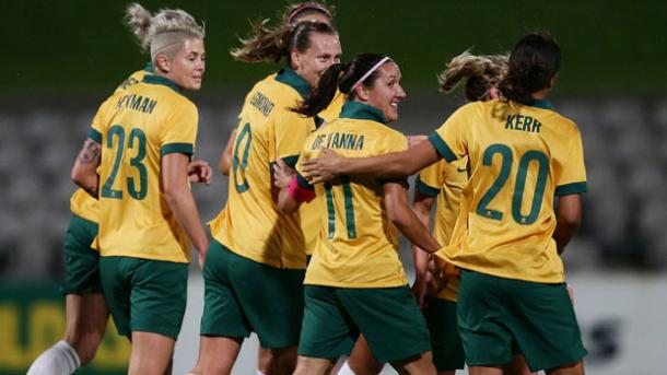There's a real togetherness in this Australian team. (Photo: FFA)