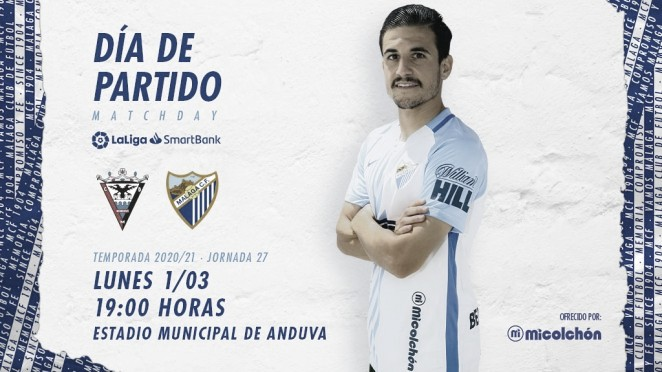 Día de partido, posando José Joaquín Matos. / Foto: Málaga CF