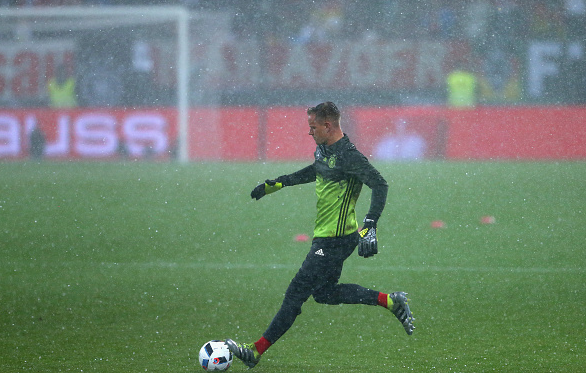 ter Stegen (pictured), in action for his native Germany ahead of the Euro 2016 tournament. | Photo: Getty
