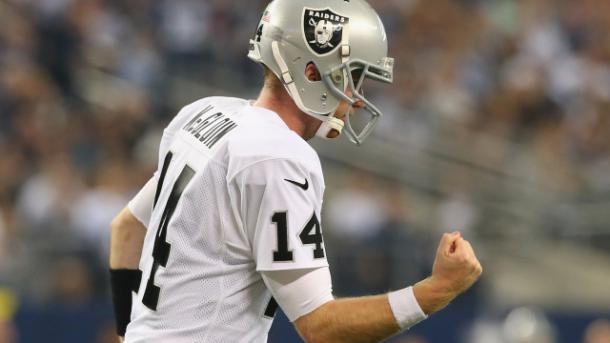 McGloin will likely be a back seat role play as the run game takes the lead | Ronald Martinez, Getty Images