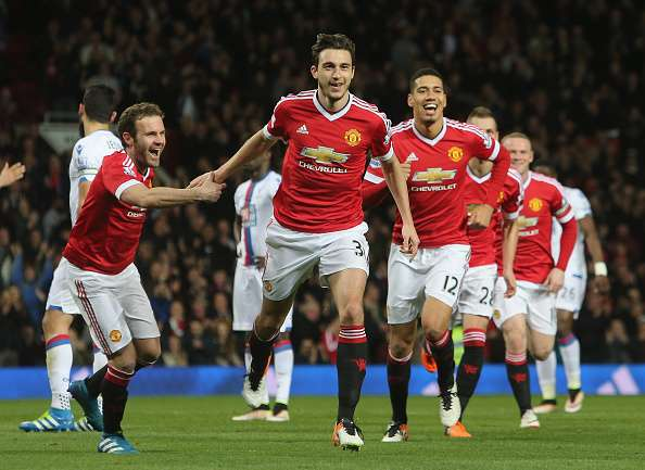 Darmian celebrating his wonderful strike against Crystal Palace last month | Photo: Getty