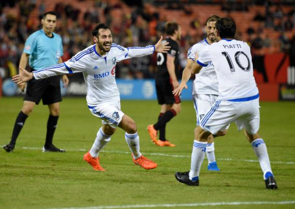 Montreal could be with Matteo Mancosu (left) for the second leg.  Image Courtesy ofNick Wass, The Associated Press