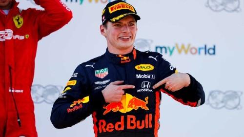 Verstappen celebrando una victoria. Foto: F1