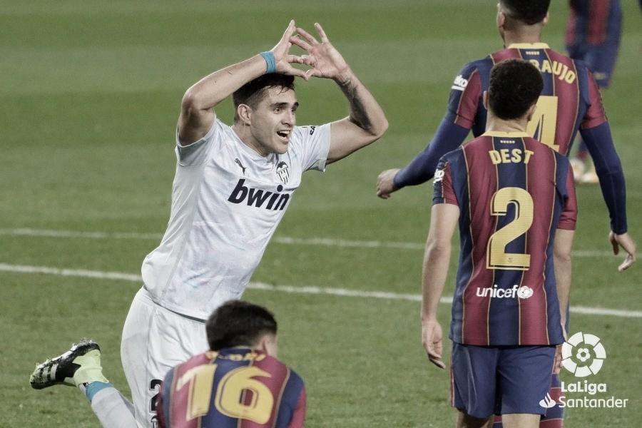 Maxi logra el tanto del empate./ Foto: LaLiga Santander