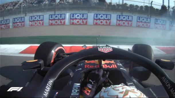 Trompo de Verstappen. Foto: F1