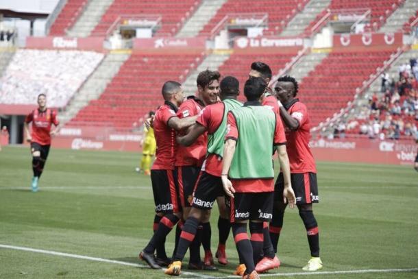 Jugadores del RCD Mallorca celebrando un gol   Foto: RCD Mallorca