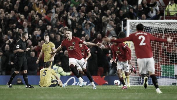 McTominay marca un gran gol./ Foto: Premier League