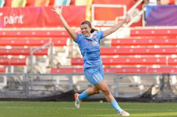 Sofia Huerta scored her first goal of the season in Chicago's last game, will she continue that? (Photo via Chicago Red Stars)