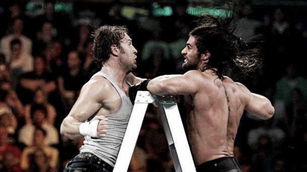 Both men battled hard. Photo- WWE.com