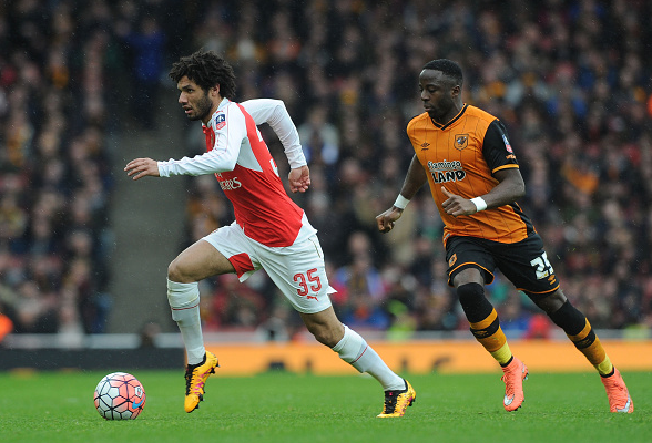 Elneny in possession against Hull | Image: Getty