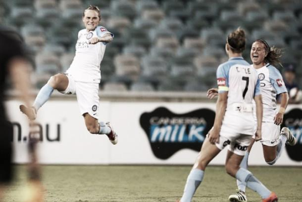 The game-winner in the Westfield W-League semi-final was scored by Fishlock | Source: Mark Metcalfe-Getty Images