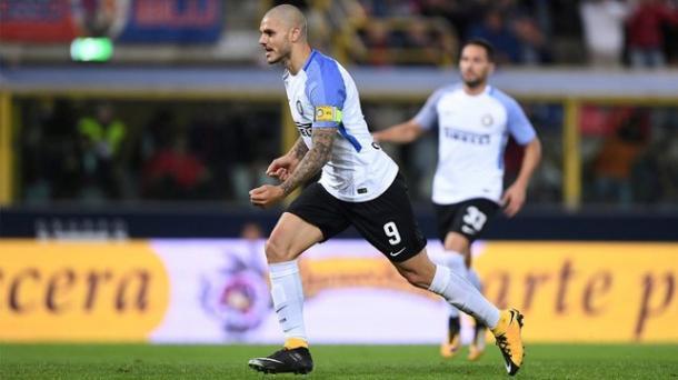 Icardi celebra su gol ante el Bologna. / Foto: inter.it
