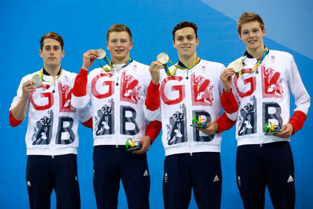 Great Britain won a silver medal in the final swimming event of Rio 2016. | Photo: Getty Images