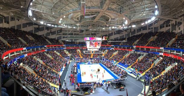 I 12000 della Megasport Arena di Mosca - Foto Cska Basket Twitter