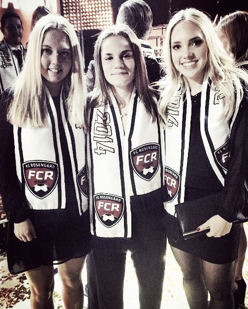 (L-R) Nathalie Persson, Sarah Mellouk and Elin Rubensson when they played for FC Rosengård. Photo: http://www.goteborgfc.se/