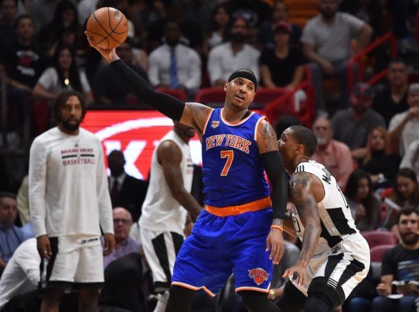 Le speranze playoff dei New York Knicks sono legate alla buona vena di Carmelo Anthony - Foto Daily Knicks