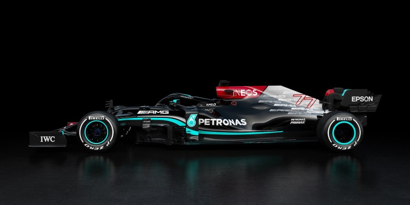 Mercedes desde una vista lateral. Foto: Twitter Mercedes