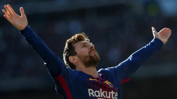Messi en el Bernabéu. EFE
