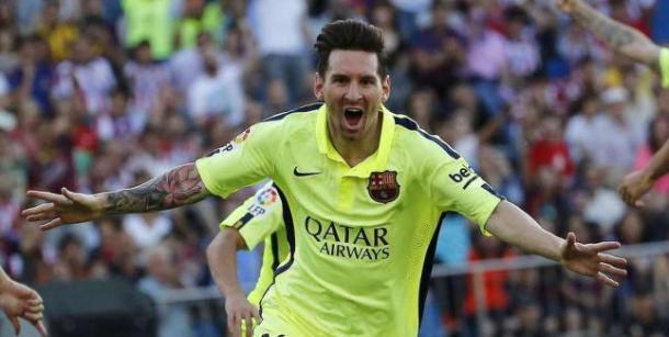 Messi celebrando el gol que daba la Liga en el Calderón I Fuente: farodevigo.es