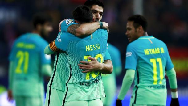 Messi e Suarez, mattatori nella gara di Copa del Rey. Fonte foto: Goal.com