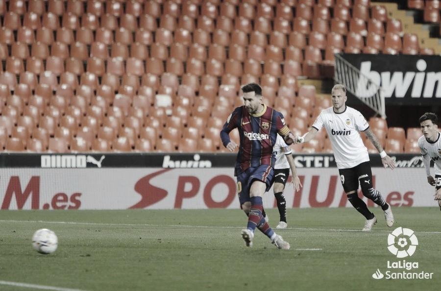 Un doblete de Leo Messi lideró la remontada culé./ Foto: LaLiga Santander